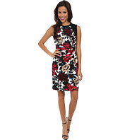 Adrianna Papell - Sleeveless Dress w/ Sweater Trim