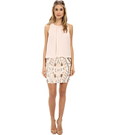 Aidan Mattox - Halter Blouson Dress w/ Beaded Skirt