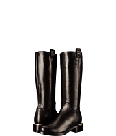Salvatore Ferragamo - Tall Leather Boot with Block Heel