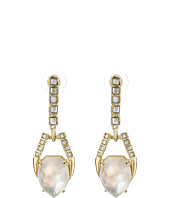 Alexis Bittar - Dangling Geometric Post with Fancy Cut Crystal and Mother of Pearl Doublet Earrings
