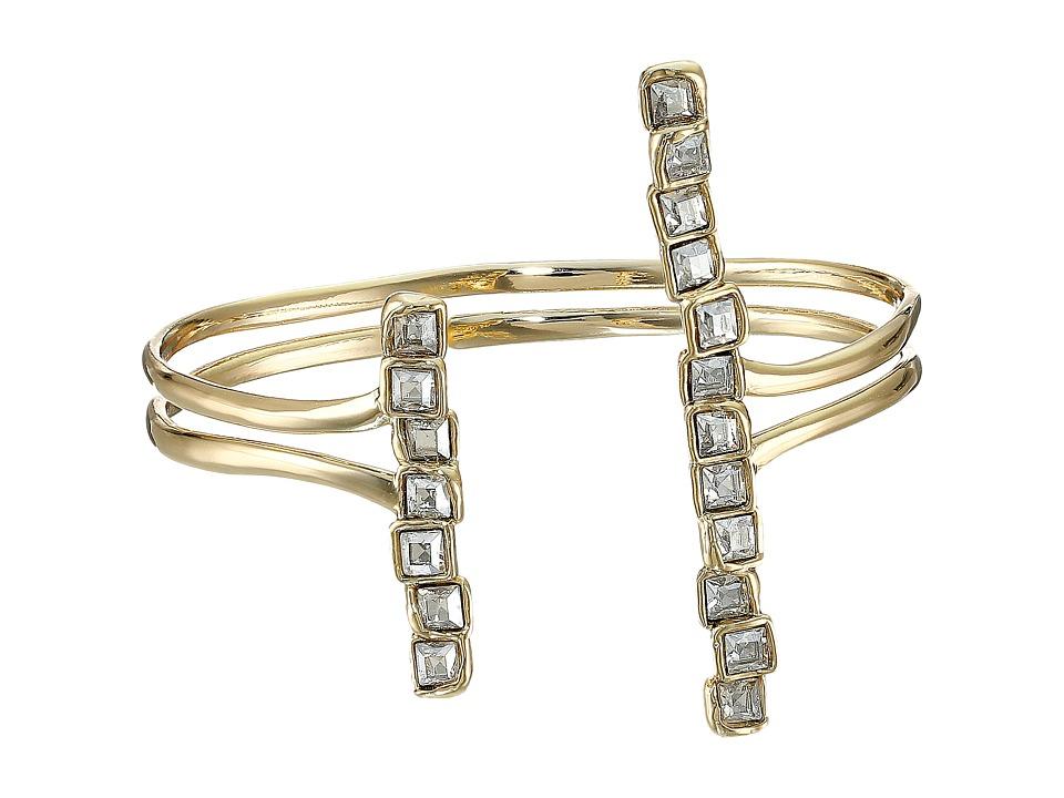 Alexis Bittar Parallel Bar Cuff Bracelet 10K Gold Bracelet