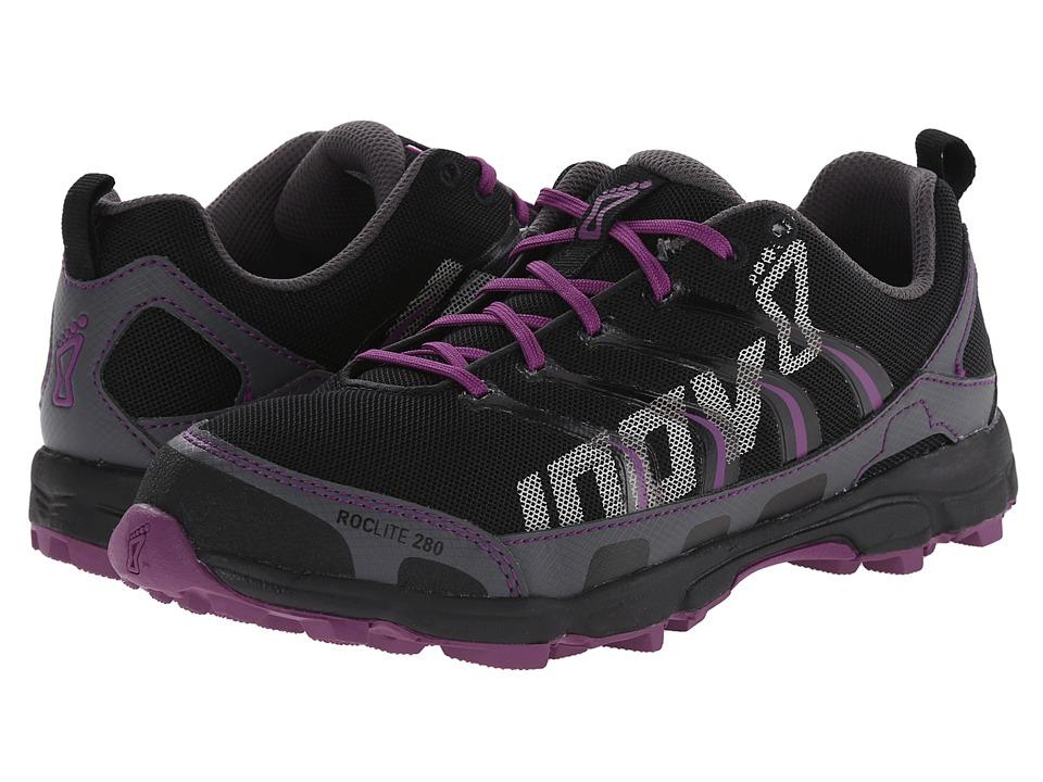 inov 8 Roclite 280 Grey/Purple Womens Running Shoes