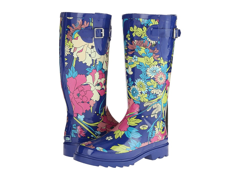 Sakroots Rhythm Royal Flower Power Womens Rain Boots