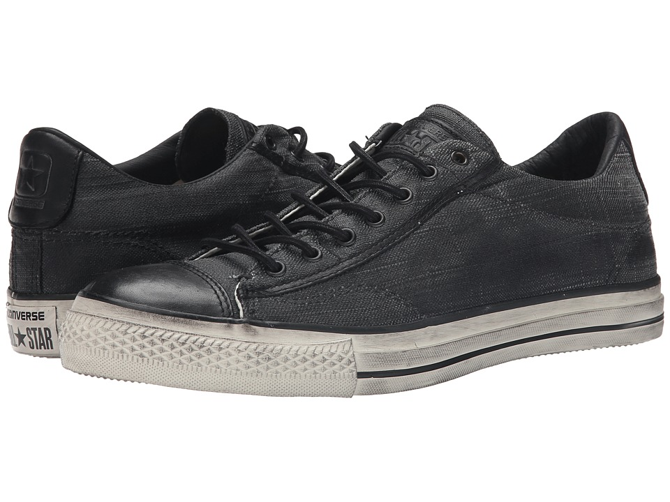 Converse by John Varvatos Chuck Taylor All Star Vintage Ox Coated Canvas Black Shoes