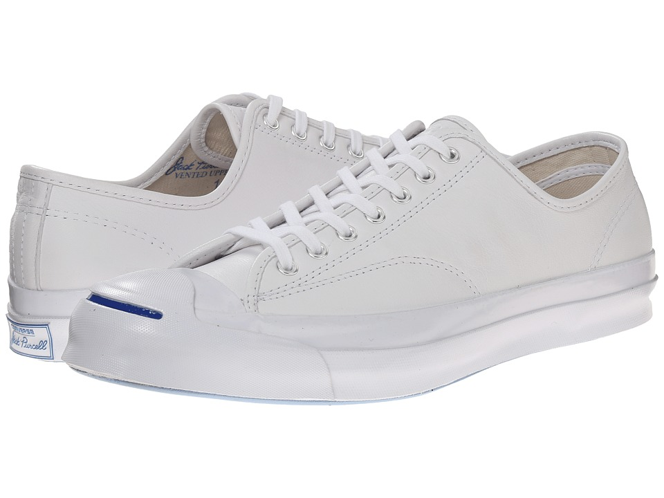 Converse Jack Purcell Signature Ox White/White/Natural Lace up casual Shoes