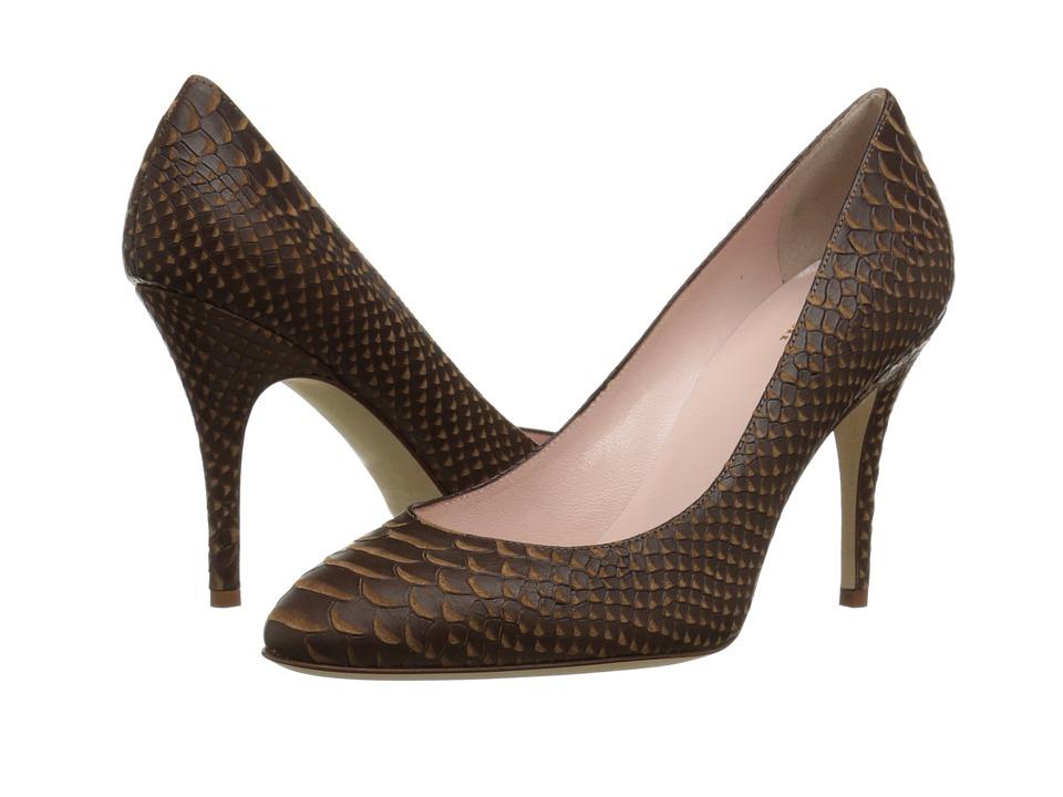 Kate Spade New York - Dani (Toffee Matte Snake Embossed Leather) High Heels