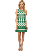 Eliza J - Sleeveless Shift In Border Circle Print