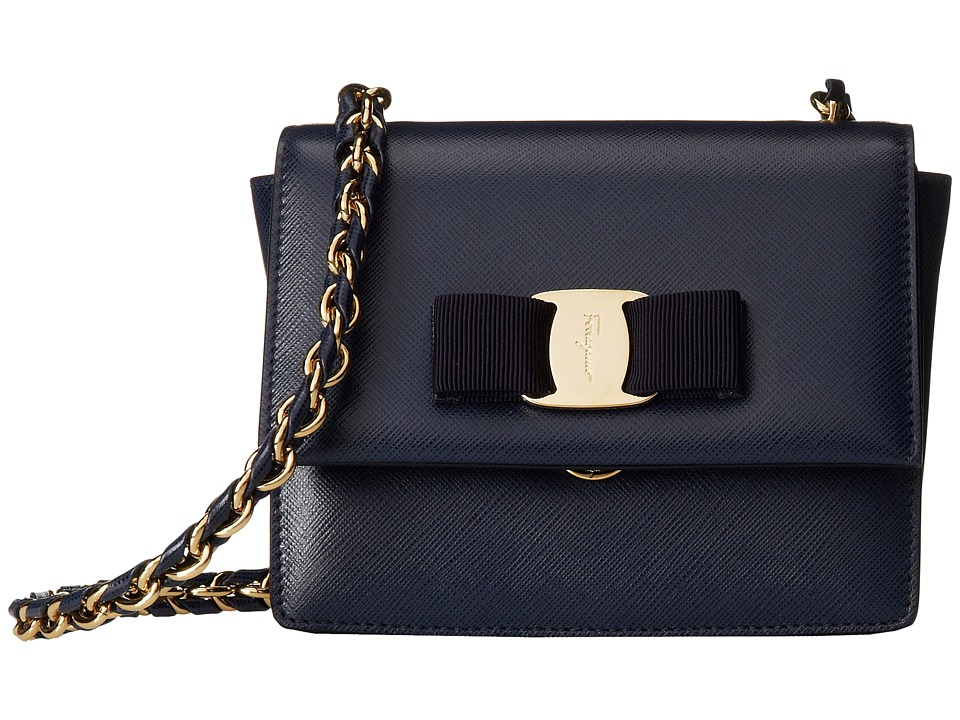 Salvatore Ferragamo - 21E479 Ginny (Oxford Blue) Handbags