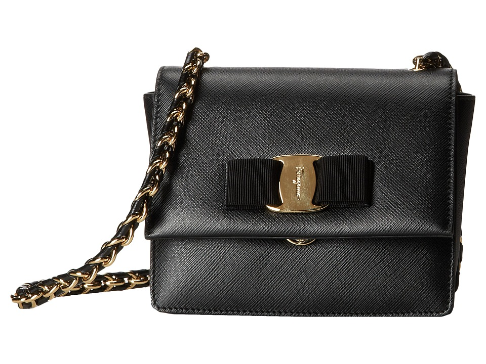 Salvatore Ferragamo - 21E479 Ginny (Nero) Handbags