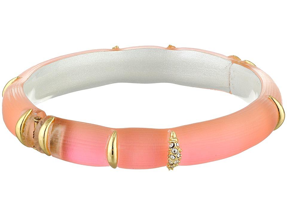 Alexis Bittar Liquid Striped Hinge Bracelet Flourescent Melon Bracelet