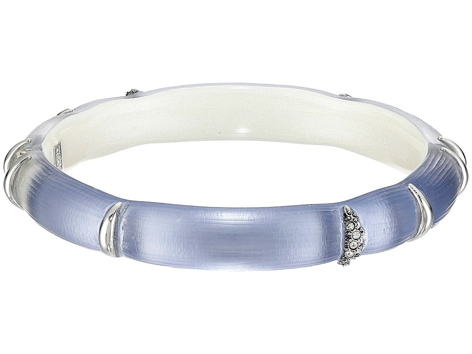 Alexis Bittar Liquid Striped Hinge Bracelet Light Navy Bracelet