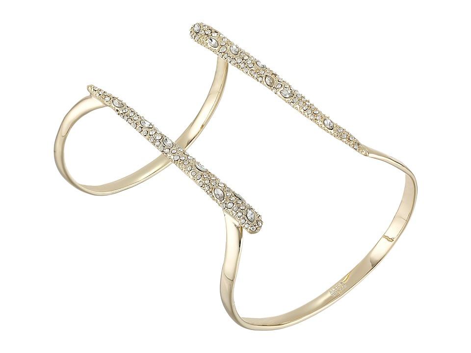 Alexis Bittar Encrusted Parallel Cuff Bracelet 10K Gold Bracelet