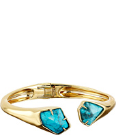 Alexis Bittar - Asymmetrical Break Hinge w/ Fancy Cut Howlite Turquoise Bracelet