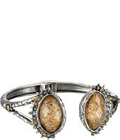 Alexis Bittar - Crystal Studded Spur Trimmed Hinge w/ Custom Picture Jasper Doublets Bracelet