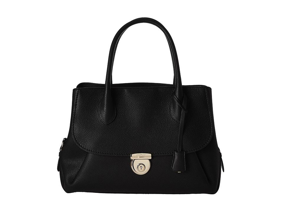 Salvatore Ferragamo - 21E978 Fiamma Tote (Nero) Satchel Handbags