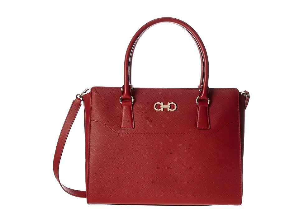 Salvatore Ferragamo - 21F271 Beky (Rosso) Satchel Handbags