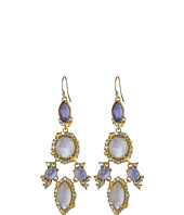 Alexis Bittar - Mosaic Chandelier w/ Custom Cut Iolite Crystal w/ MOP Doublets Earrings