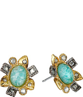 Alexis Bittar - Mosaic Post w/ Rose Cut Amazonite Doublet Earrings
