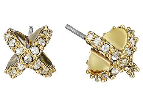 Alexis Bittar Encrusted Criss Cross Stud Post Earrings