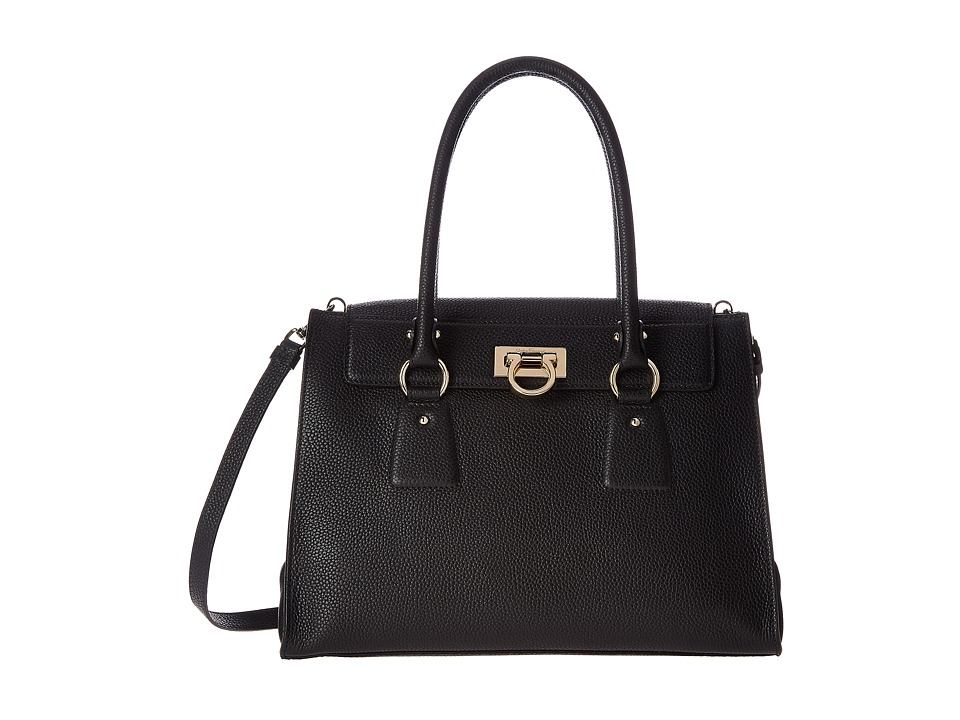 Salvatore Ferragamo - 21F293 Lotty (Nero) Satchel Handbags