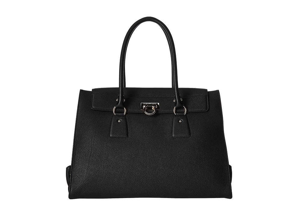 Salvatore Ferragamo - 21F267 Lotty (Nero) Satchel Handbags
