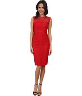 JILL JILL STUART - Sleeveless Fitted Chemical Lace Sheath