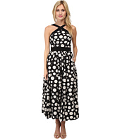 JILL JILL STUART - Midi Length Dotted Linen Dress