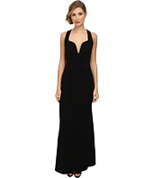 JILL JILL STUART - Deep V-Neck Fitted Elastane Gown