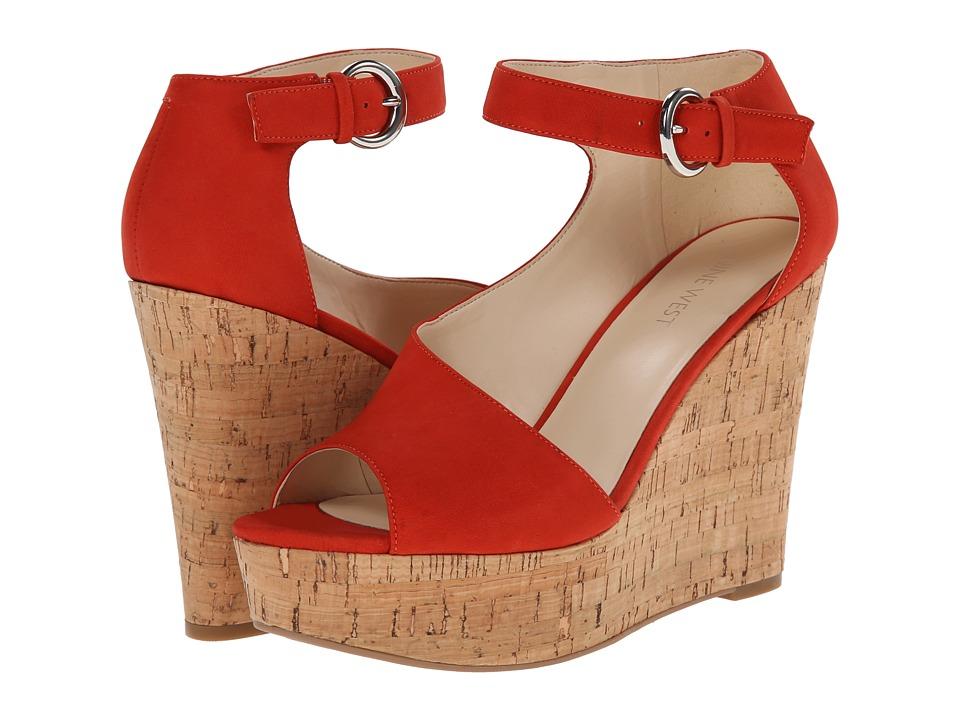 Nine West - Adyssinian (Red Nubuck) Women's Wedge Shoes