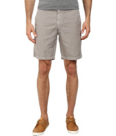 AG Adriano Goldschmied - Wanderer Cotton-Linen Blend Shorts in Sulfur Shale