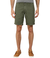 AG Adriano Goldschmied - Wanderer Cotton-Linen Blend Shorts in Sulfur Vine Canopy