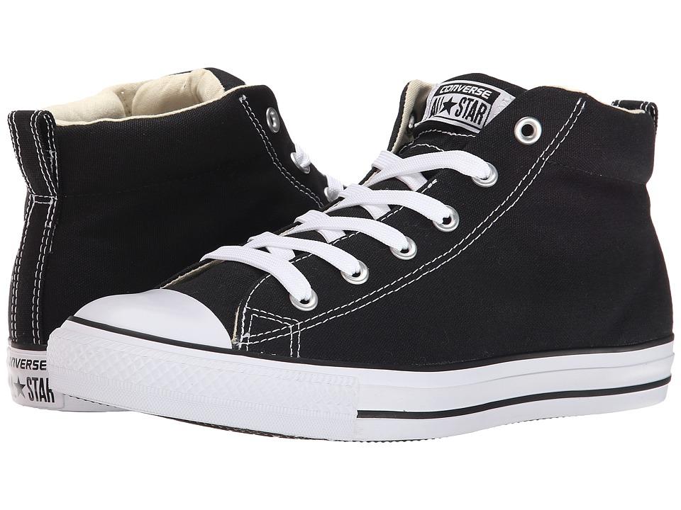 60s Mens Shoes | 70s Mens shoes – Platforms, Boots Converse - Chuck Taylorr All Starr Street Core Canvas Mid BlackNaturalWhite Lace up casual Shoes $59.99 AT vintagedancer.com