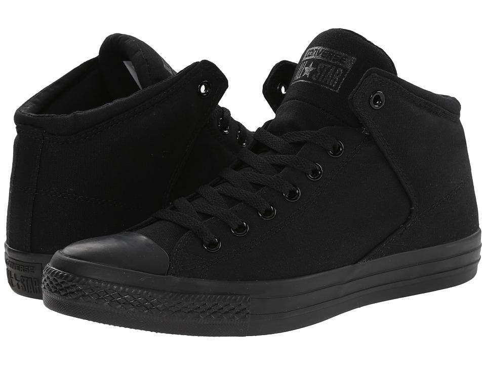 Converse - Chuck Taylor(r) All Star(r) High Street Mono Canvas Hi (Black/Black/Black) Lace up casual Shoes