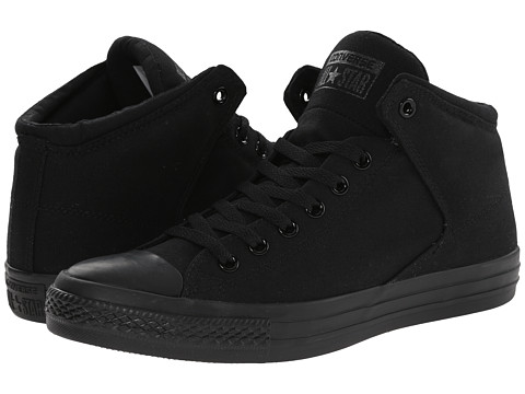 Converse Chuck Taylor® All Star® High Street Mono Canvas Hi - Black/Black/Black