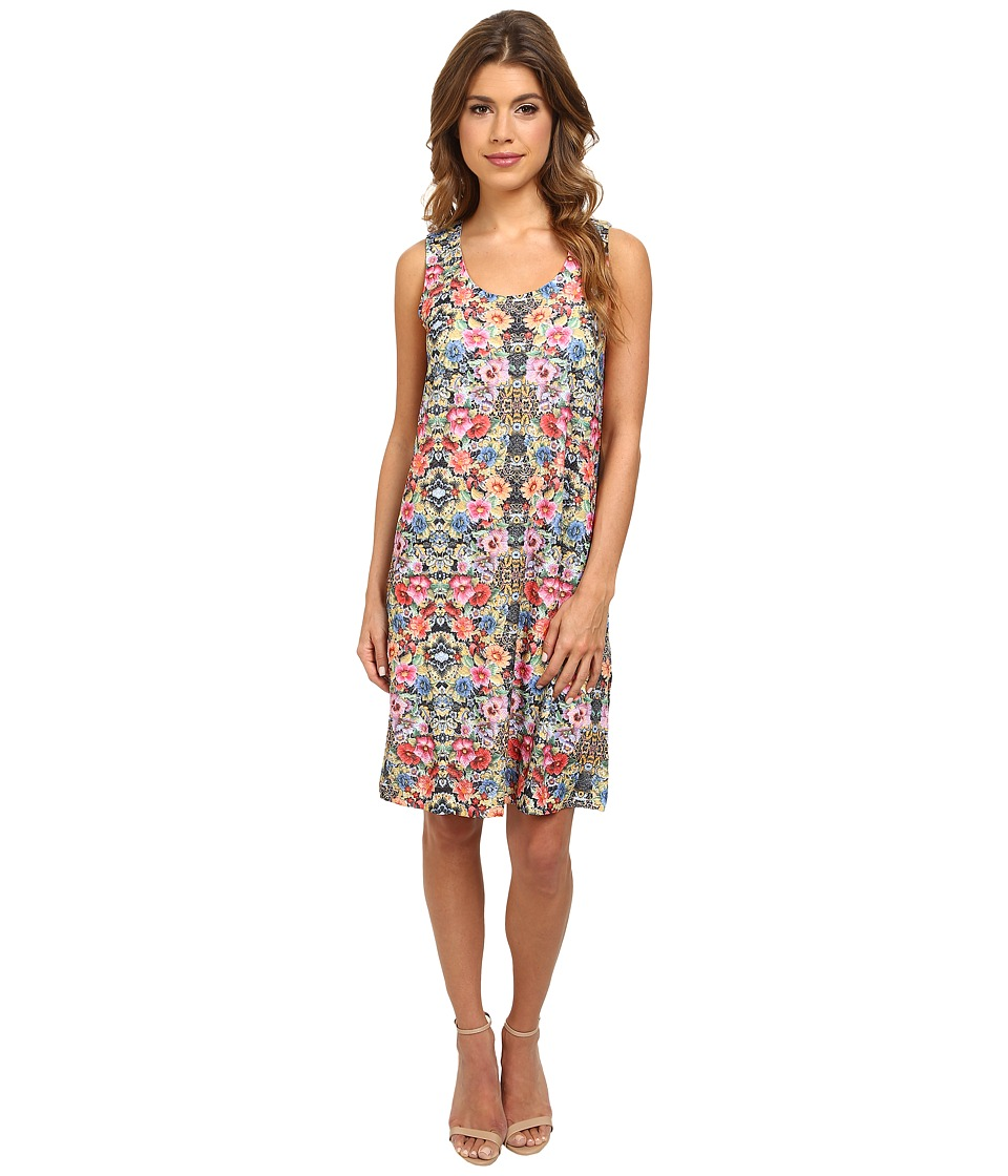 Image of Nally & Millie Sleeveless Floral Jacquard Dress (Multi) Women's Dress