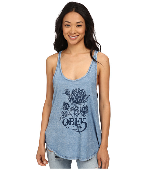 obey rose waltz tank top bleach. Black Bedroom Furniture Sets. Home Design Ideas