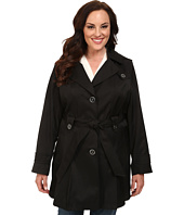 Via Spiga - Plus Size Single-Breasted Hooded Trench
