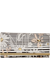 Jessica McClintock - Floral Stripe Bar Clutch