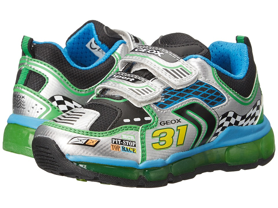 Geox Kids - Android Boy 2 (Toddler\/Little Kid) (Silver\/Green) Boy's Shoes