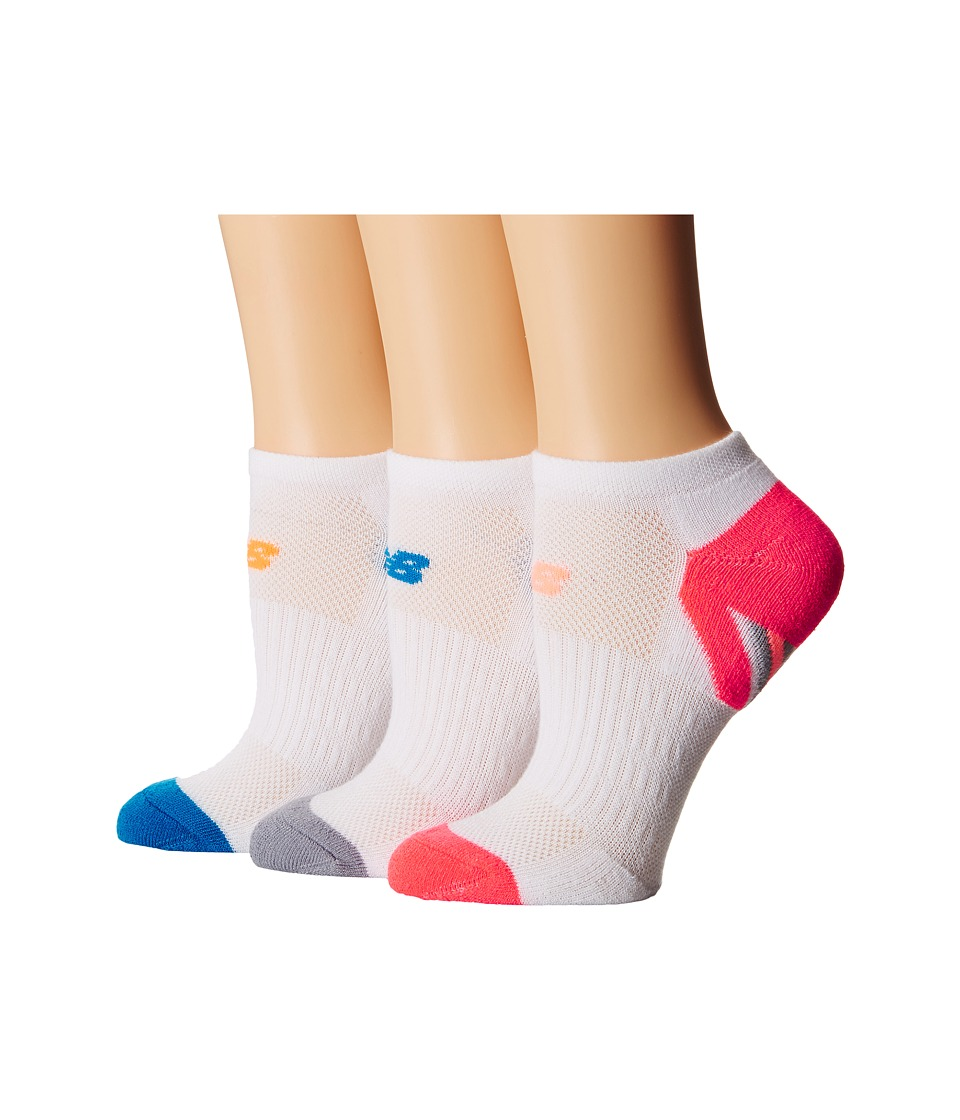 New Balance - Adaptive No Show 3-Pack (White/Pink) No Show Socks Shoes
