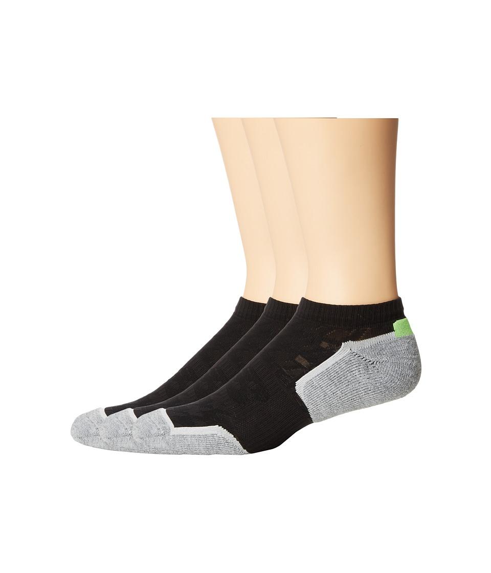 New Balance - Court Low Cut 3-Pack (Black) Low Cut Socks Shoes