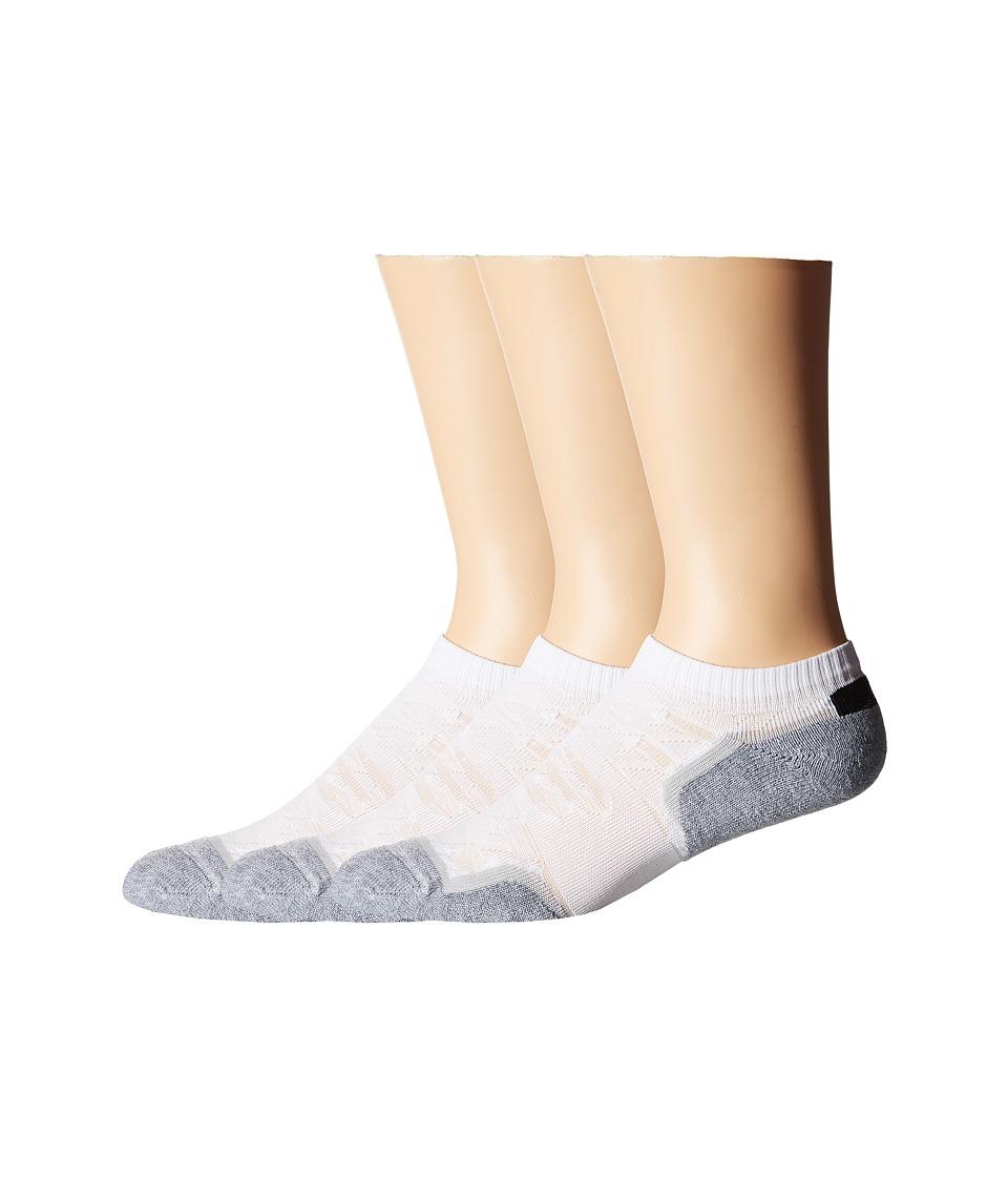 New Balance - Court Low Cut 3-Pack (White) Low Cut Socks Shoes