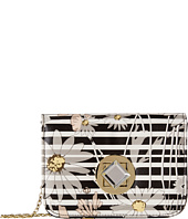 Jessica McClintock - Floral Stripe Diamond Mini Bag