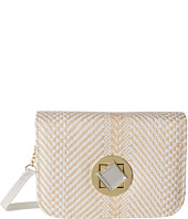 Jessica McClintock - Straw Diamond Mini Bag