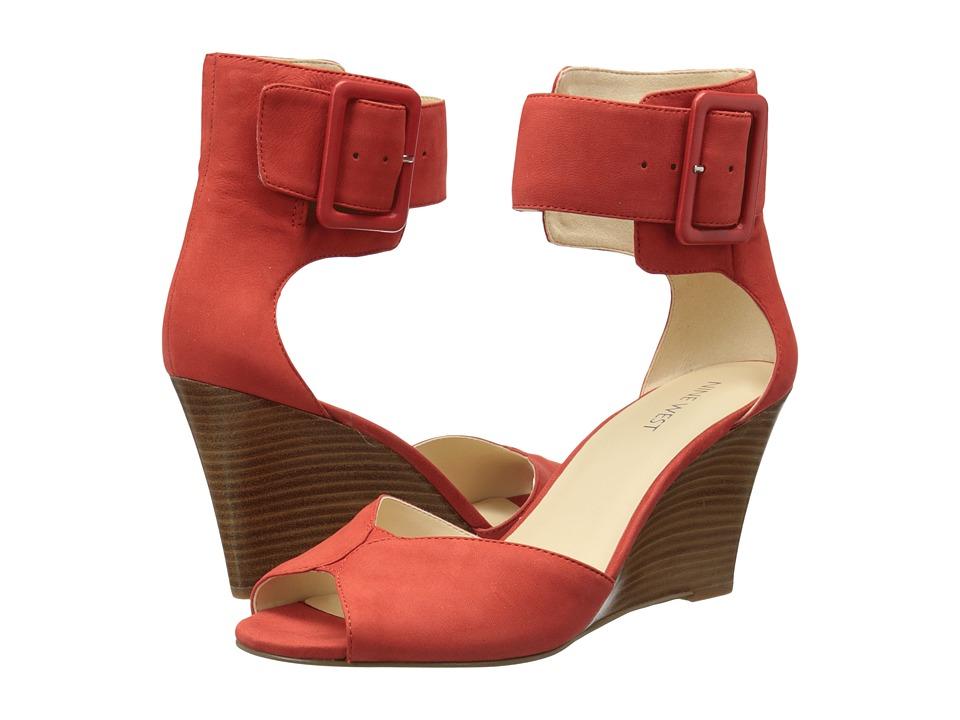 Nine West - Crudenza (Red Nubuck) Women's Wedge Shoes