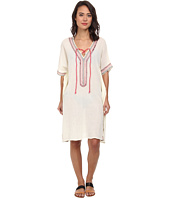 San Diego Hat Company - BST1390 Cotton Gauze Caftan with Embroidery