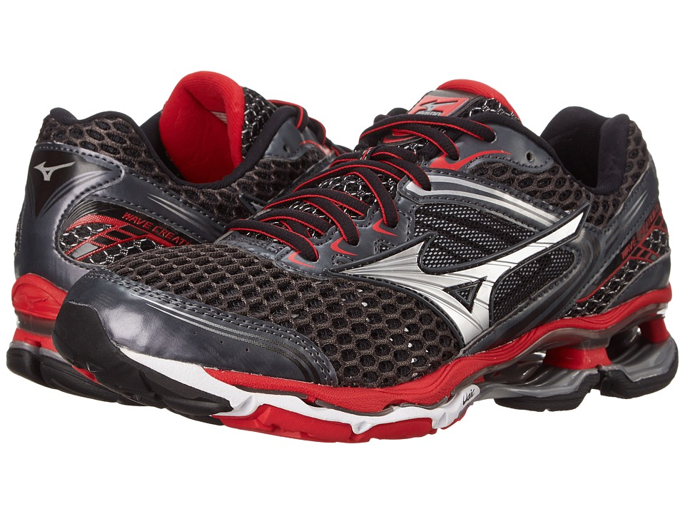 Mizuno Wave Creation 17 Dark Shadow/Silver/Chinese Red Mens Running Shoes