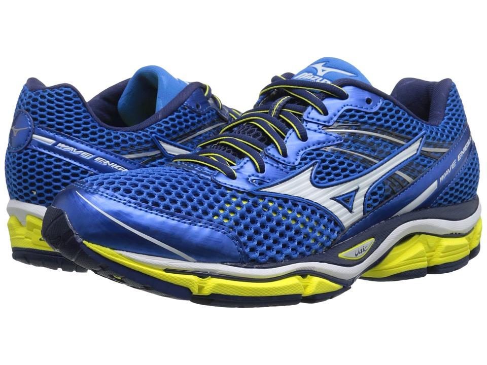 Mizuno Wave Enigma 5 Electric Blue Lemonade/White/Bolt Mens Running Shoes