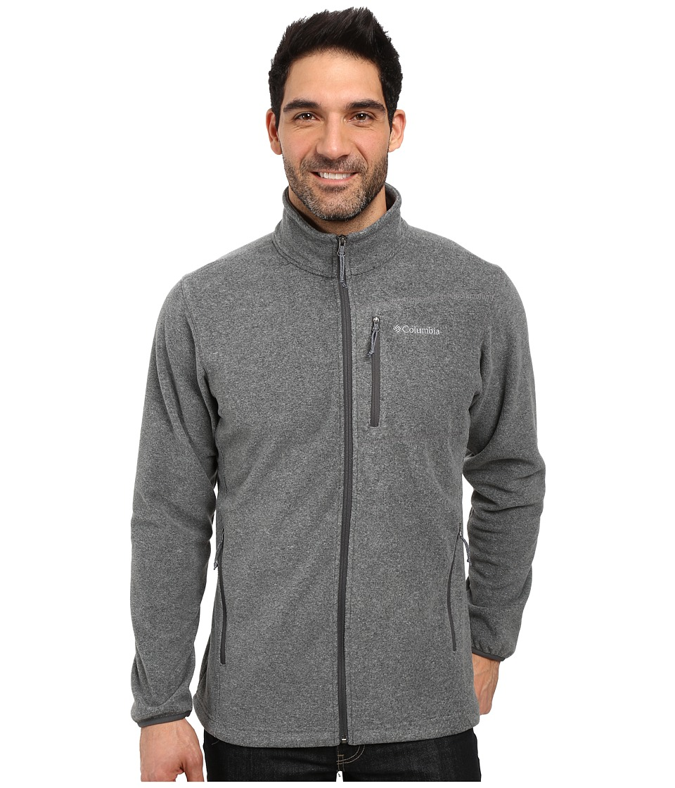 Columbia Cascades Explorer Full Zip Fleece (Charcoal Heather) Men