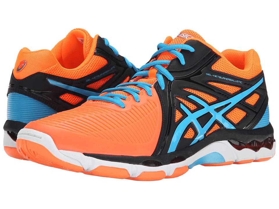 ASICS GEL Netburner Ballistic MT Flash Orange/Atomic Blue/Midnight Mens Volleyball Shoes